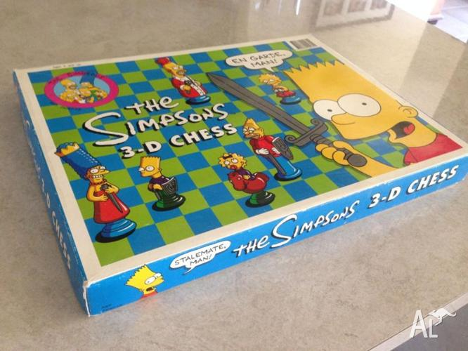 The Simpsons 3D Chess Set 1992 *RARE* Collectors Item