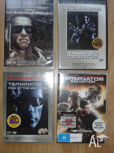 The Terminator Quadrilogy 4 x DVD Movies. 5x DVD's