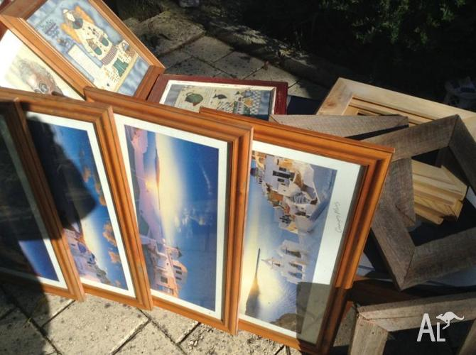 Timber picture frames. Various sizes and styles.