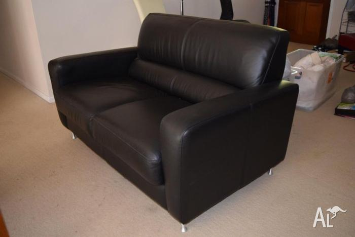 Tino Sofa Leather 2-seater Lawson Black