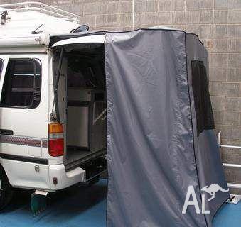 Toyota Hiace motorhome Rear Door Privacy Tent & Toyota Hiace motorhome Rear Door Privacy Tent for Sale in SLACKS ...