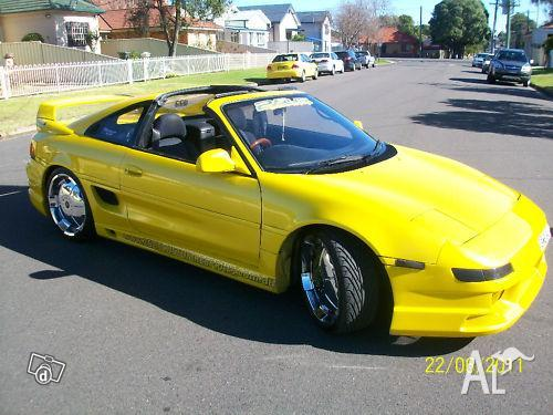 toyota mr2 auto mettalic yellow targa top 91 for sale in epping new south wales classified. Black Bedroom Furniture Sets. Home Design Ideas