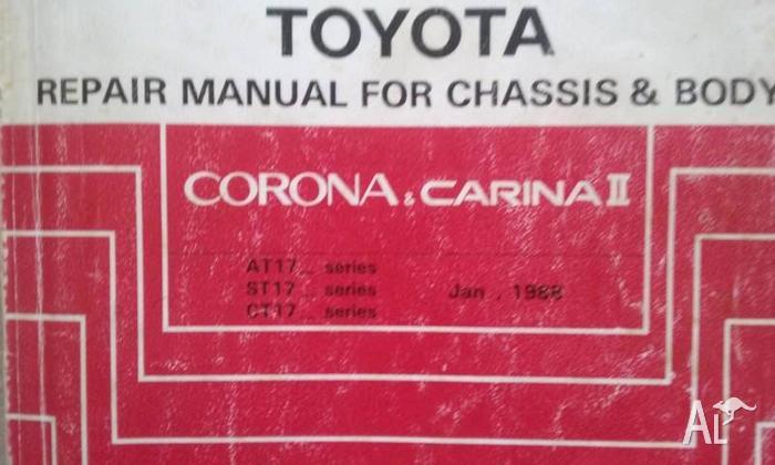 Toyota Repair Manual Corona & Carina2 AT171,St171,ST170