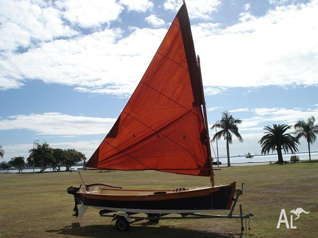 TRADITIONAL 16' SHARPIE  SAIL, ROW OR OUTBOARD - Now only
