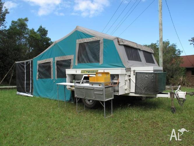 New Have A Fantastic Not Old Camper Trailer For Sale Id Like U To Message Me For More Info  And We Are Just Selling As We Dont Use Anymore And Just Has A Little Bit Of Vermin Damage To A Little Bit Of The Tent Which Can Be Repaired With Just A