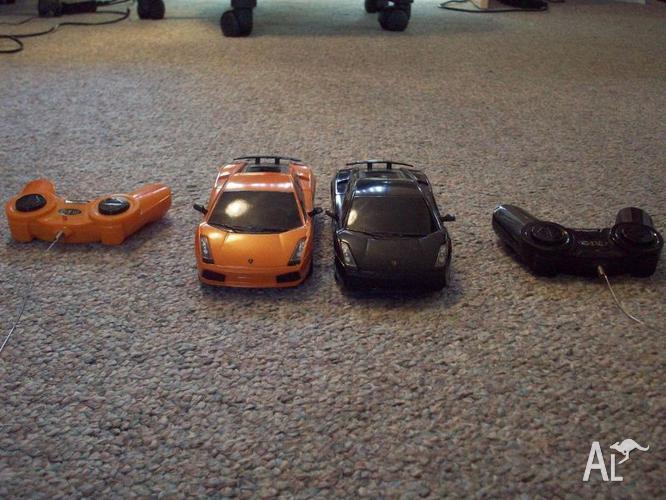 Twin Remote controlled Lamborghini cars