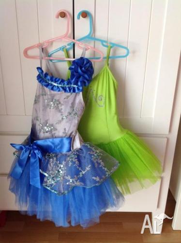 Two beautiful girls dance or fancy dress costumes for
