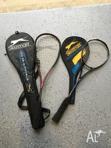 Two Slazenger squash racquets