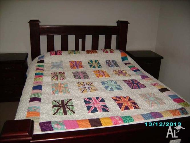 Unique Queen size Quilt with the Union Jack in All
