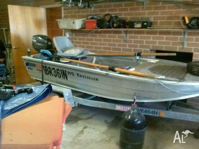v nose punt with 15 hp motor and accesories on registered