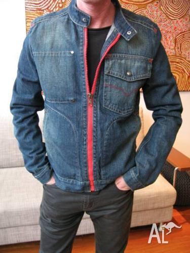 VERSACE SALE - Men's Denim Jacket Europe L / Size 48/50