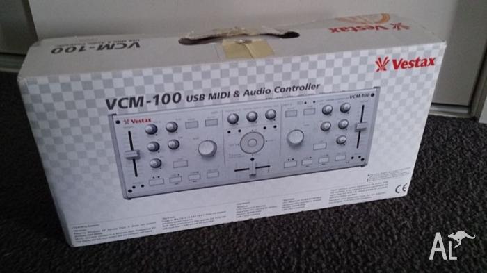 Vestax VCM-100 external audio card and MIDI controller.