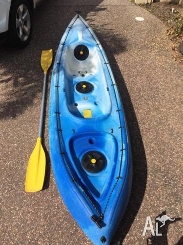 Viking kayak and paddle