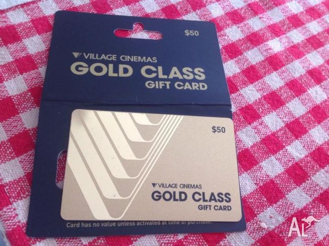 VILLAGE CINEMAS GOLD CLASS GIFT CARD