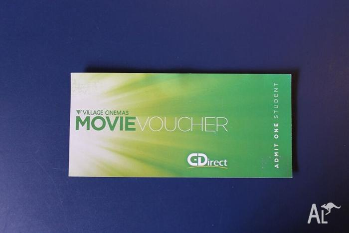 VILLAGE CINEMAS MOVIE VOUCHER - STUDENT $10