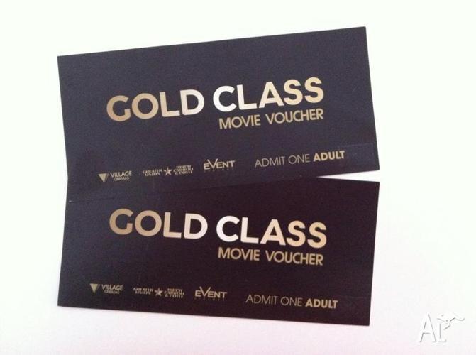Village Gold Class Movie Tickets x 2