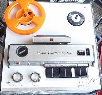 Vintage 1960's Reel to Reel Tape Recorder- National