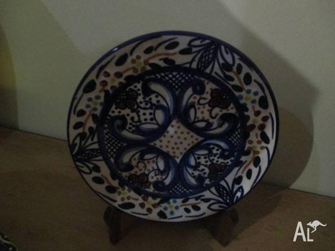 Vintage Antique Ceramic Pottery SPAINISH Plate by