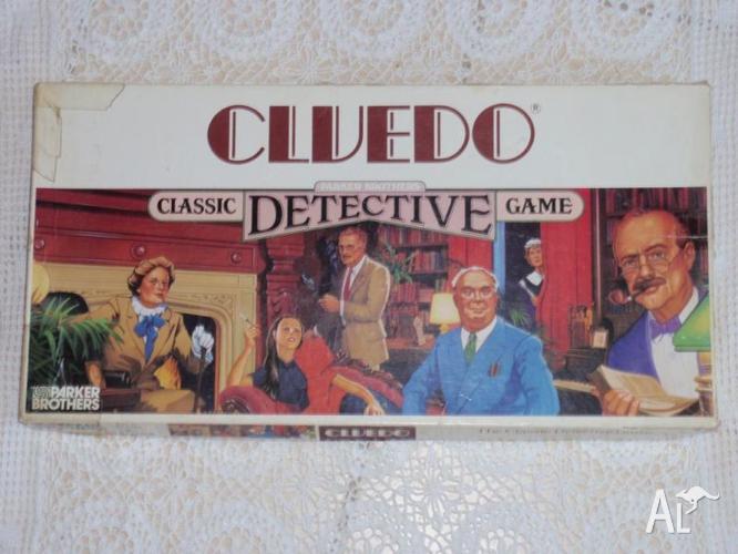 VINTAGE CLUEDO PARKER BROTHERS BOARD GAME DETECTIVE