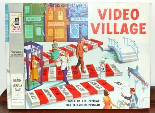 Vintage Collectable 1960's Video Village TV Board Game