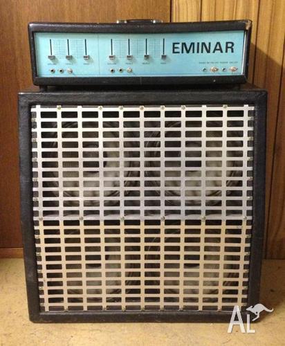 VINTAGE EMINAR 100W VALVE AMP + CELESTION SPEAKER CAB - $700 for