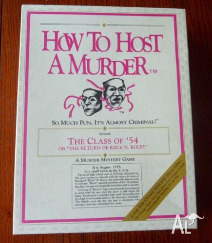 Vintage 'How to Host a Murder' Board Game