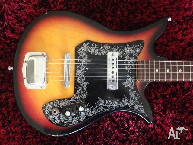 Vintage Teisco Tulip E 110 Mij Electric Guitar All Original For