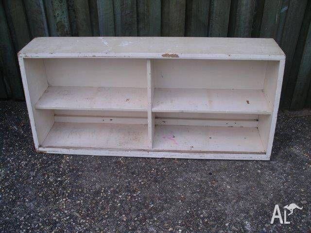 VINTAGE WALL CUPBOARDS x 2. 1st One is 138cm W & 2nd