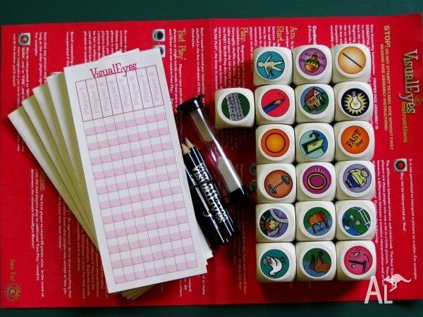 Visual Eyes Game [Intelligence Game using Picture Dice]