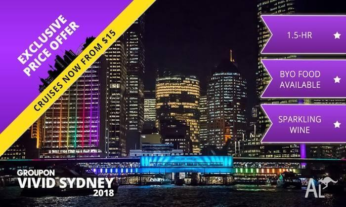Vivid Cruise - 90 mins with a welcome drink (3 tickets