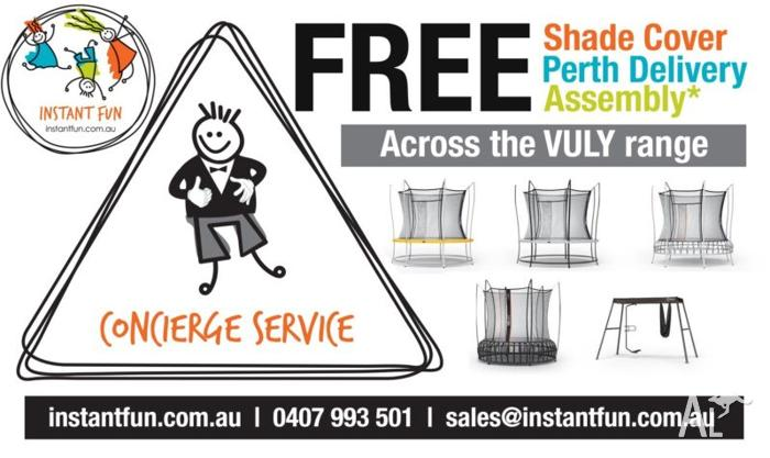 VULY TRAMPOLINES (FREE SHADE COVER+FREE DELIVERY+FREE