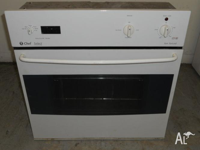 Wall Oven 60cm Chef Under Bench Fan Forced Oven Only 3