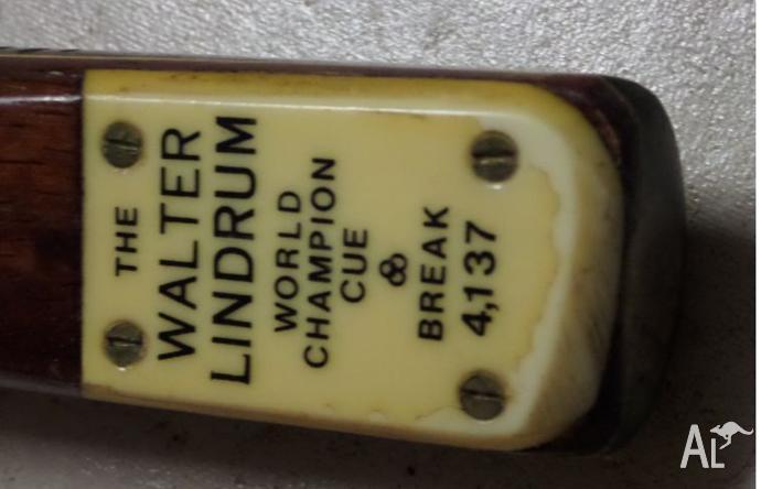 walter lindrum pool cue