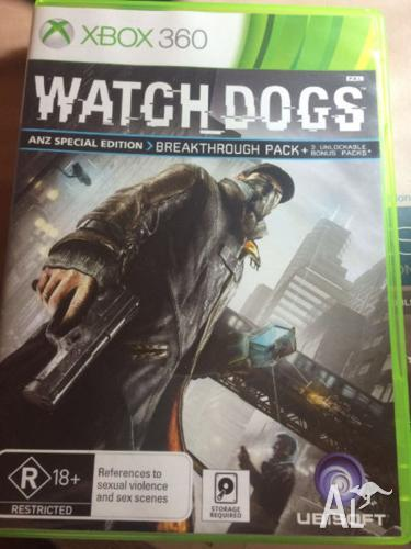 Watch dogs-ANZ soecial edition for Xbox360
