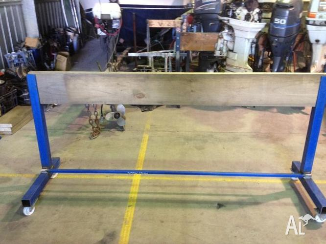 Water and wheels large outboard motor stands for sale in for Large outboard motor stand