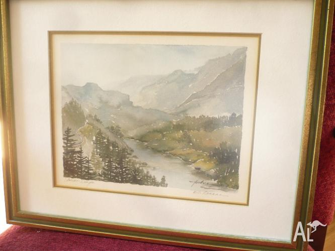 Watercolour of Fraser Canyon BC Canada by Joan Forbes