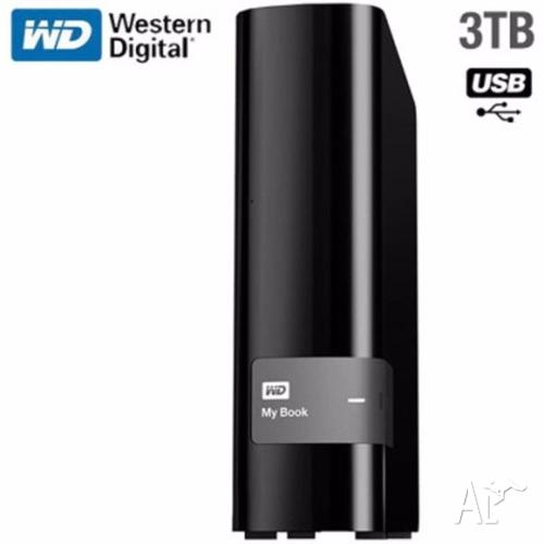 WD My Book Desktop External USB 3.0 3TB HDD