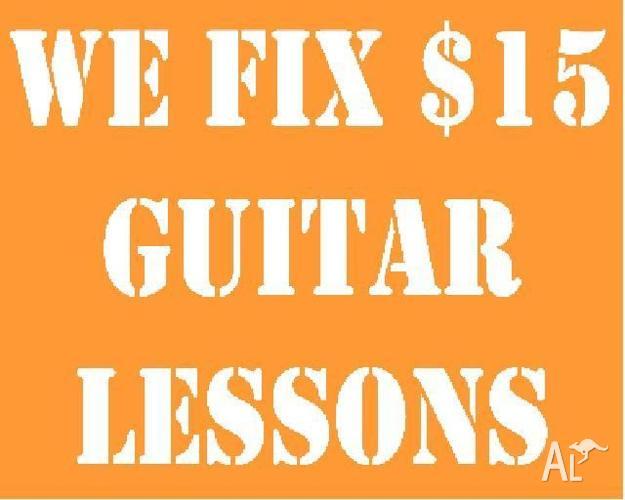 We Fix $15 Guitar Lessons