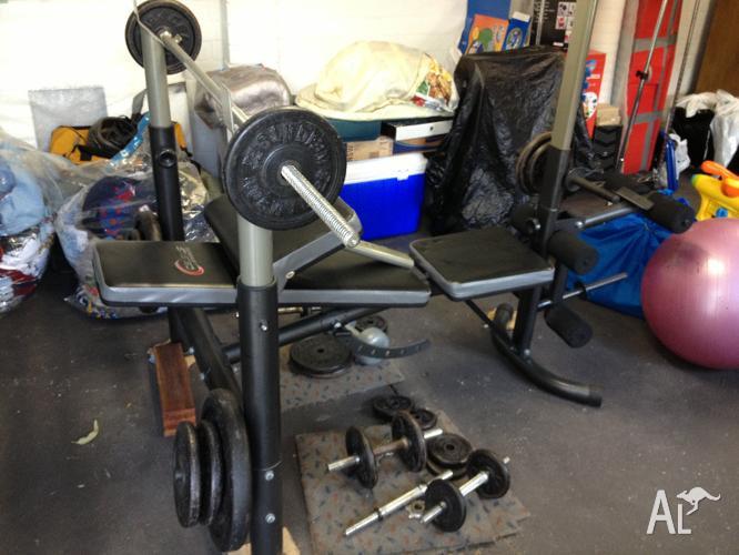 Weights Bench & bar set