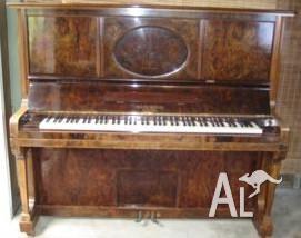 Weissbrod Eufonia Pianola in mahogany casing