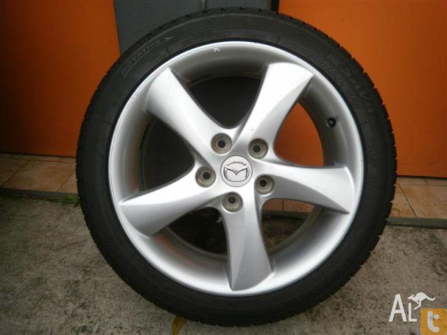 wheels tyres mazda 6 sports 17 genuine alloy wheels for sale in carramar new south wales. Black Bedroom Furniture Sets. Home Design Ideas