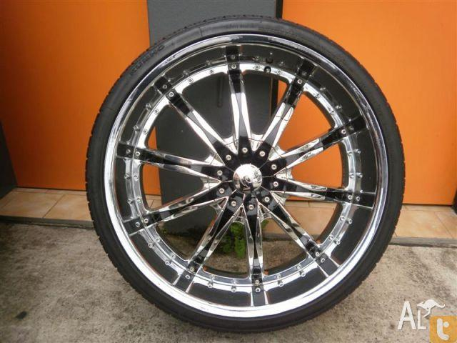 wheels tyres vct 24 inch chrome alloy wheels for sale in. Black Bedroom Furniture Sets. Home Design Ideas