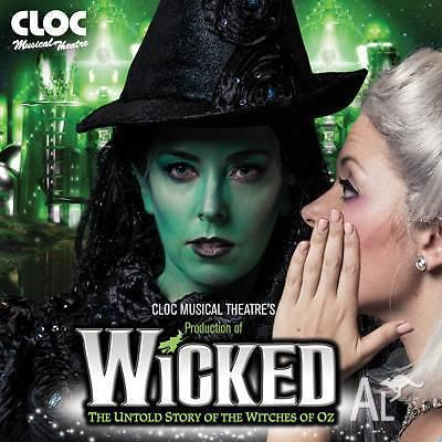 Wicked - Admit 2 -Wed 11th May 2016 at 8pm -Vic