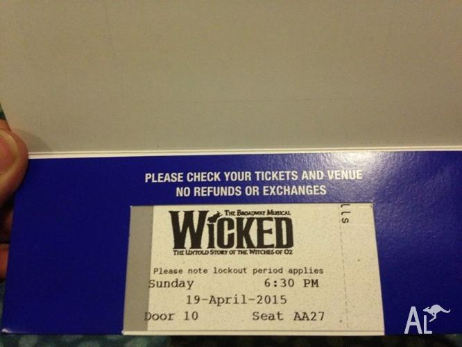 Wicked the Musical FINAL PERFORMANCE APRIL 19, GREAT