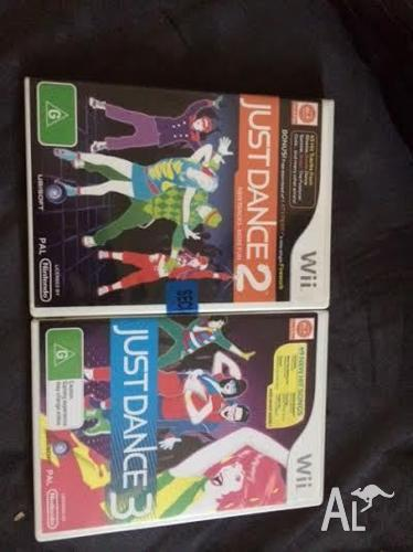 Wii Just Dance 2 and Just Dance 3 Game - 1 new and 1