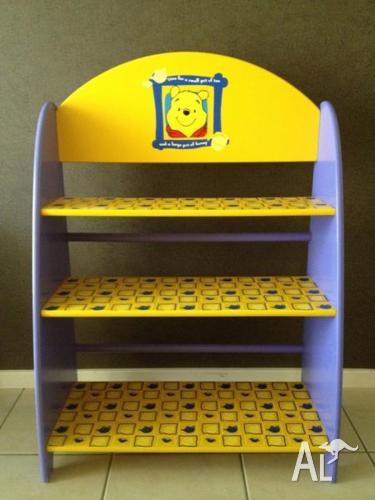 Winnie The Pooh Table Chairs And Bookshelf