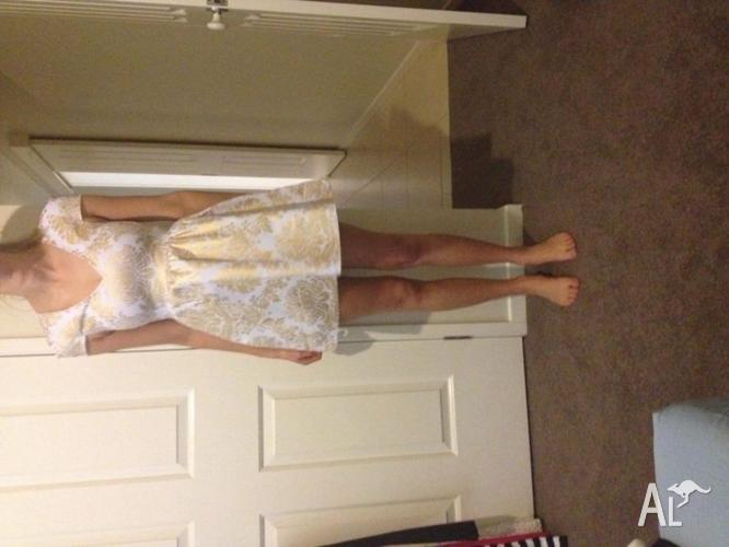 Women's gold foil dress