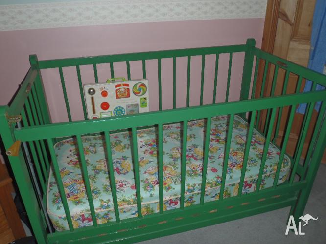 Wooden Cot and Mattress