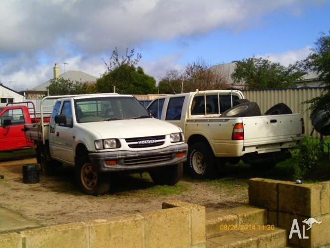 Wrecking two Holden Rodeo