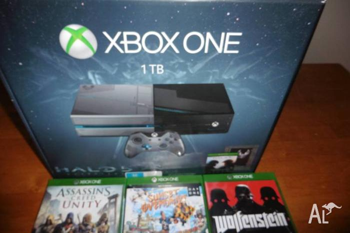 XBOX ONE 1TB with 6 games Halo Edition